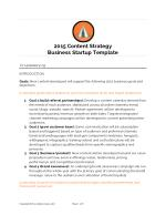 Content Strategy Template for Startups in 2015