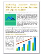Marketing Academy Group's BPO Services Increase Revenue and Expand Margins