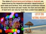 Get List Of national Holidays
