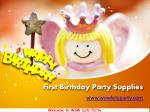Best First Birthday Party Supplies in Singapore