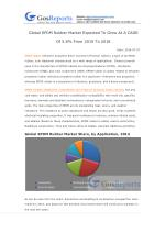 Global EPDM Rubber Market Expected To Grow At A CAGR Of 5.8% From 2015 To 2018