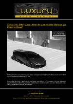 Things You Didn't Knew About the Lamborghini Huracan for Rental in Miami!