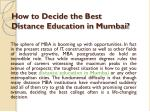 How to Decide the Best Distance Education in Mumbai?