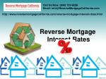 Reverse Mortgage Interest Rates In California