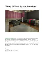 Temp Office Space London
