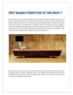 Why Marri Furniture is The Best