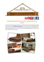 Reclaimed Wood Furniture is the New Trend For Decking Up Interiors