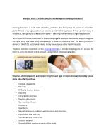 Sleeping Tablets – The Proven Solution Of Sleeping Disorders