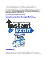 InstantAzon review demo and $14800 bonuses
