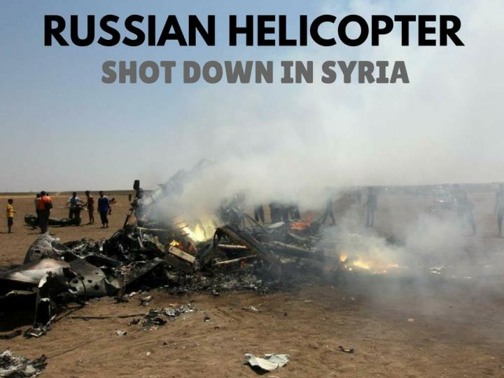 russian helicopter shot down in syria n.