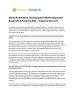 Global Automotive Test Equipment Market Expected Reach US$ 675 Mn by 2023 – Credence Research