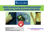 Global Continuous Glucose Monitoring Market (CGM) 2020 Forecasts: Key Major Players are Abbott Laboratories, DexCom Inco