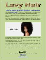Keep Your Brazilian Hair Bundles Maintained – Few Simple Steps
