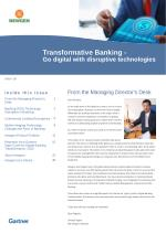 Gartner Research Newsletter-Transformative Banking – Go digital with disruptive technologies - www.newgensoft.com