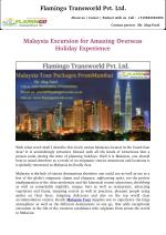Malaysia Tour packages for Amazing Overseas Holiday Experience