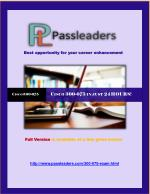 Passleader 300-075 Questions Answers