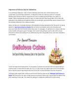 Importance of Delicious Cake for Celebrations