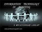 INFORMATION TECHNOLOGY IN AUDITING