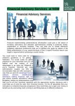 Financial Advisory Services at NSW
