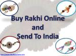 Buy rakhi online and send to India