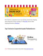 Top 5 Exclusive Coupons for Lazada Thailand Lovers
