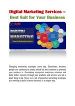 Digital Marketing Services – Best Suit for Your Business