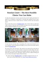 Roselyn Court – The Best Possible Choice You Can Make