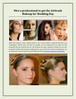 Hire a Professional to Get The Airbrush Makeup for Wedding Day