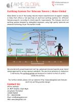 Earthing System For Telecom Towers
