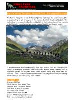 Markha Valley Trek Map, Route & Cost - Himalayan Frontiers