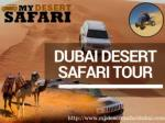 My Desert Safari in Dubai - Desert Safari With Dubai City Tours