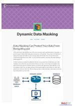 Data Masking Can Protect Your Data From Being Misused