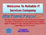 Reliable IT Services Company