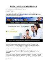 Free Online Business Opportunities