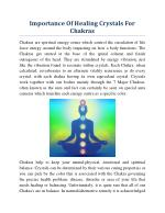 Importance Of Healing Crystals For Chakras