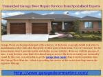 Unmatched Garage Door Repair Services from Specialized Experts