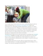 San Francisco Yard Cleaning Services