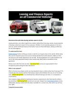 Best Operating Lease Perth,Affordable Vehicle Leasing Perth,Lowest rate Truck Finance Perth