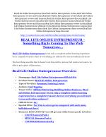 Real Life Online Entrepreneur review- Real Life Online Entrepreneur (MEGA) $21,400 bonus