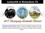 Locksmith in richardson TX