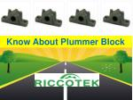 Everything You Want To Know About Plummer Block
