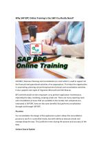 Why SAP BPC Online Training is the Skill You Really Need?