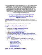 Copy Paste Commission REVIEW and GIANT $21600 bonuses