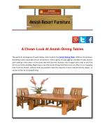 A Closer Look At Amish Dining Tables