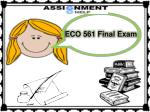 ECO 561 Final Exam - ECO 561 Final Exam 39 Question, ECO 561 Final Exam Answers UOP - Assignment E Help