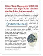 Citizen World Chronograph AT8020-54L Eco-Drive Blue Angels Radio Controlled Mens Watch: One that is retro-tech