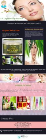 Choose Natural organic Beauty Products