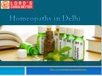 Homeopathy in Delhi