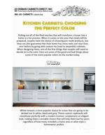 Kitchen Cabinets Choosing the Perfect Color