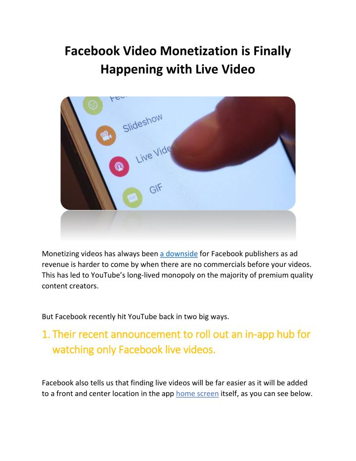 fb live video app download